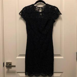 Banana Republic Black Lace Mini Dress 00P